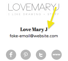 Where to find a Hello Pretty designer's email address