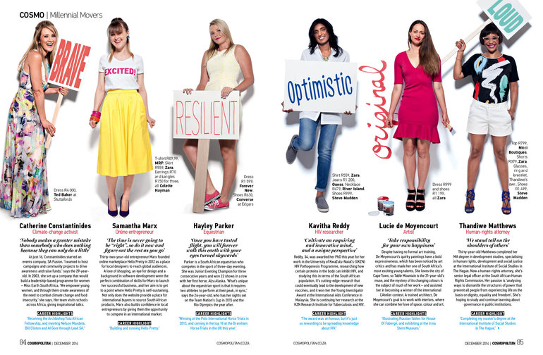 Our girl boss in Cosmo on http://hellopretty.co.za/blog