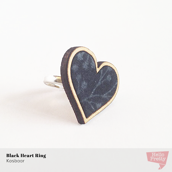 Black Heart Ring by Kosbaar on Hello Pretty