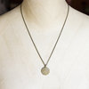 Solid Brass Spiral Pendant Necklace by 1827 Handmade
