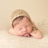 Organic cotton newborn bonnet, newborn photo prop. LB-32 by Lavender Blossoms Props