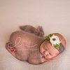Silk mohair knit newborn wrap, newborn photo prop. LB-02 by Lavender Blossoms Props