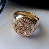 The traditional 18ct family crest seal signet ring by www.hallmarkinternational.co.za