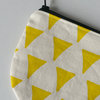 "Round Pouch ""Yellow Triangles"" by Sew & Such"