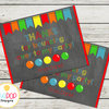 BOUNCE HOUSE Birthday Invitation, Jumping Birthday Party, Jump Party, Colourful, Chalkboard Invitation, Thank You Card, Printable by EyePop Designs
