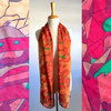 Orange And Red Silk Scarf by Misc. Clothing