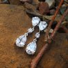 drop bridal earrings  by thula