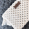 Macrame Cotton Clutch Bag by Naturally Macrame