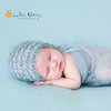 Curly mohair bonnet and wrap set-mist, newborn photo prop by Lavender Blossoms Props