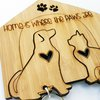 Home is where the Paws are Keychain Set by HALLO JANE