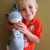 Kira the Kangaroo with Baby crochet doll - Made to Order by Croshka Designs