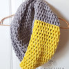 Handmade puffy merino wool infinity scarf - Made to order by Croshka Designs