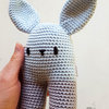 Crochet bunny toy by Croshka Designs