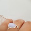 Dreamy Blue Lace Agate Ring by La Mae Jewellery