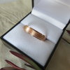Double Line and Texture 9ct Gold Gents Ring by MD Jewellery Design