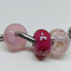 3 x Bead charms and bracelet combo PINK by Honeydog Designs