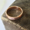 Bold Textured 9ct Gold Gents Ring by Mignon Daubermann Jewellery Design