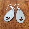 Swallow earrings by Patrys Laser Cutting Designs