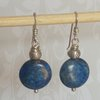 Sterling Silver Earrings with Lapus Lazuli  by Cecilia Robinson Jewellery