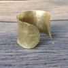 Convex hammered brass  bracelet cuff by Cecilia Robinson Jewellery