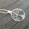 Stirling Silver Tree of Life Pendant 35 mm including chain  by Cecilia Robinson Jewellery