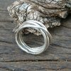 Twisted Stirling Silver wire ring by Cecilia Robinson Jewellery