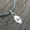 Recycled Stirling Silver Leaf Pendant including Hematite Necklace by Cecilia Robinson Jewellery