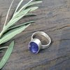 Blue Iolite set in Stirling Silver by Cecilia Robinson Jewellery