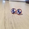 Blue leaves in Rose Gold by JanaS