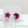 Resin Earring - Moon and Stars by Honeydog Designs