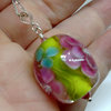 Art Glass Pendant/ Lampwork on Sterling Silver by Honeydog Designs