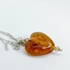 Amber Glass Art Heart by Honeydog Designs