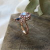Rose de France Amethyst with Sapphire and diamond crown in 9k rose gold by MD Jewellery Design