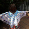 Hand crochet kids poncho Age 5 t0 8 years  by JaxStar Handmade Clothing and Home