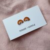 Rainbow studs (warm tone) by turkey dimple