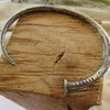 Solid Silver Nail Men's Bangle by MD Jewellery Design