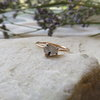Rutilated quartz in 9ct rose gold.  by MD Jewellery Design