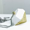 U rock - Concrete Pendant Diamond by Honeydog Designs