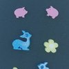 Blue Shimmer Deer and Co Resin studs  by Honeydog Designs