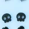 Black bats, cute skulls and roses studs Halloween fun by Honeydog Designs