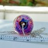 Glass Art/ Lampwork  Swirl Pendant on Sterling Silver   by Honeydog Designs
