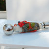 Coctail Fork with green gecko art glass bead by Honeydog Designs