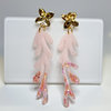 Pink Matisse flower Resin and Gold by Honeydog Designs