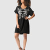 Marique Yssel Rise Boxy Tunic with Embroidery - Black  by Marique Yssel