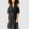 Marique Yssel Open Shoulder Shirt Dress 2fer - Black by Marique Yssel
