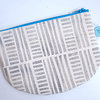 Round Pouch in Grey Stripes by Sew & Such