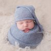 Alpaca sleepy hat and wrap set, newborn photo prop LB-79 by Lavender Blossoms Props