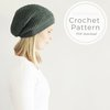 PDF Pattern, Crochet slouchy beanie hat pattern, digital download, permission to sell finished items, pattern by VeraJayne by VeraJayne