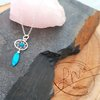 Dainty Boho Dreamcatcher Pendant with Turquoise Bead and Feather by La Mae Jewellery