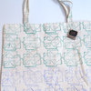 Tote bag in Green and Blue Rectangles by Sew & Such